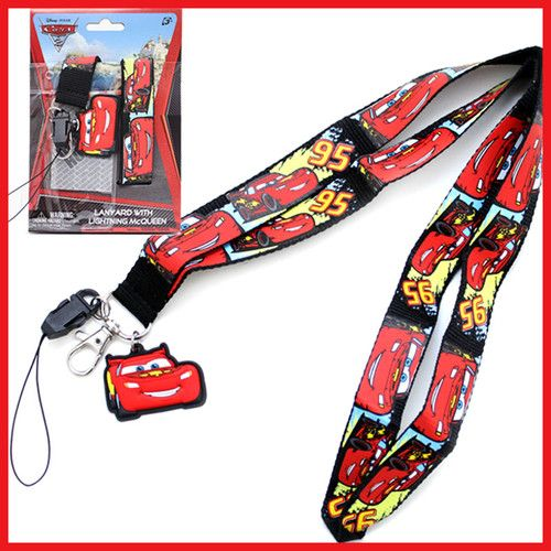 2cef538107d06 Details about Disney Cars Mcqueen Lanyard with Coin Wallet ID Key ...