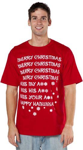 Merry Christmas Happy Hanukkah Shirt Pinterest Vacation, Funny