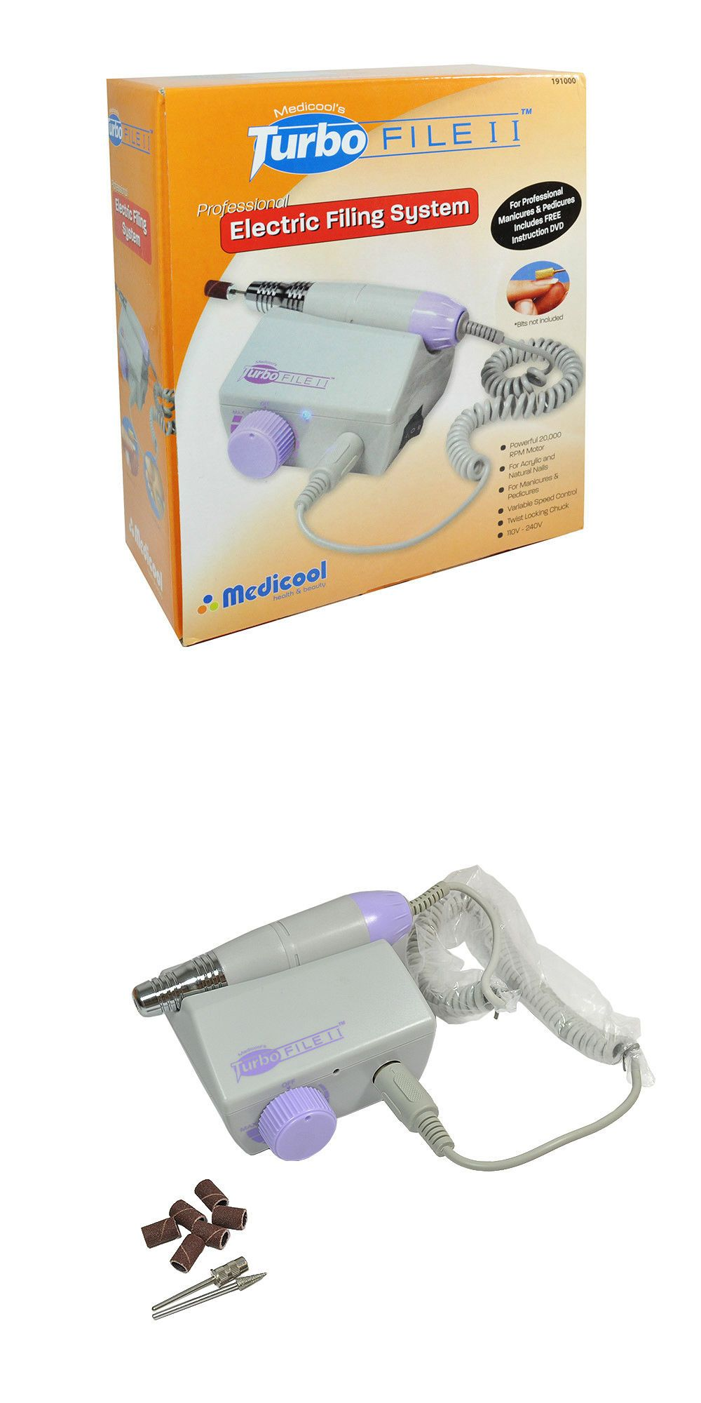 Electric Files and Tools: Medicool Turbo File Ii Electric Nail ...