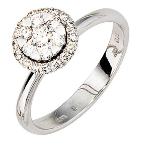 Damen-Ring 23 Diamant-Brillanten 14 Karat (585) Weißgold 0.42 ct. 60 (19.1) Dreambase, http://www.amazon.de/dp/B00AWAK4V8/ref=cm_sw_r_pi_dp_lknjtb14R6VJZ