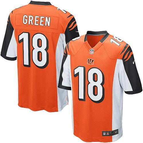 Nike Limited A.J. Green Orange Youth Jersey - Cincinnati Bengals  18 NFL  Alternate f1449e2f9