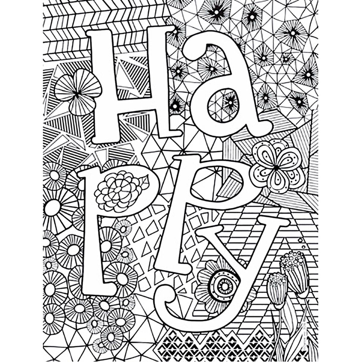 Keep A Creative Soul Young And Inspired With The Happy Coloring Poster From Our Bright Bold Collection This P Coloring Books Coloring Posters Coloring Pages