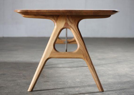 Artisan tesa houten tafel maatwerk de klare lijn beneden