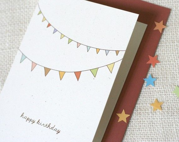 Bunting Birthday Card Cards Pinterest Buntings Birthdays And