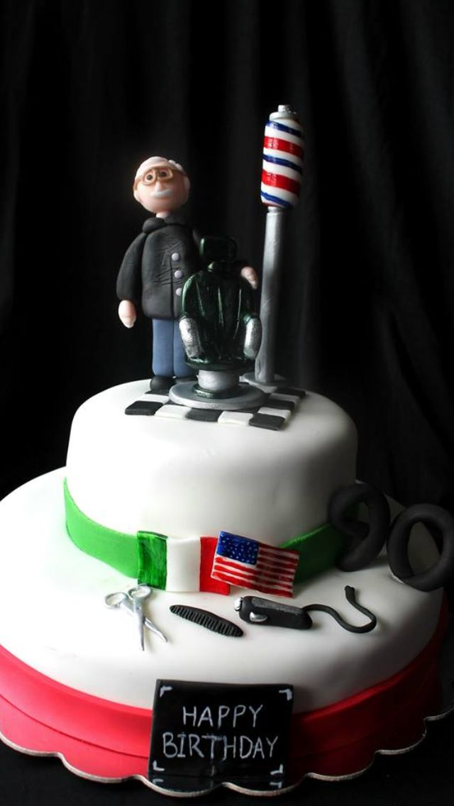 Barber Cake For Louie Rossis 90th Birthday Italian American Barber