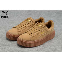 MensWomens Fenty Puma By Rihanna Suede Creepers Shoes Brown