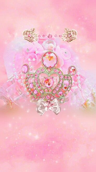 Princess crown Iphone wallpaper glitter, Pink diamond