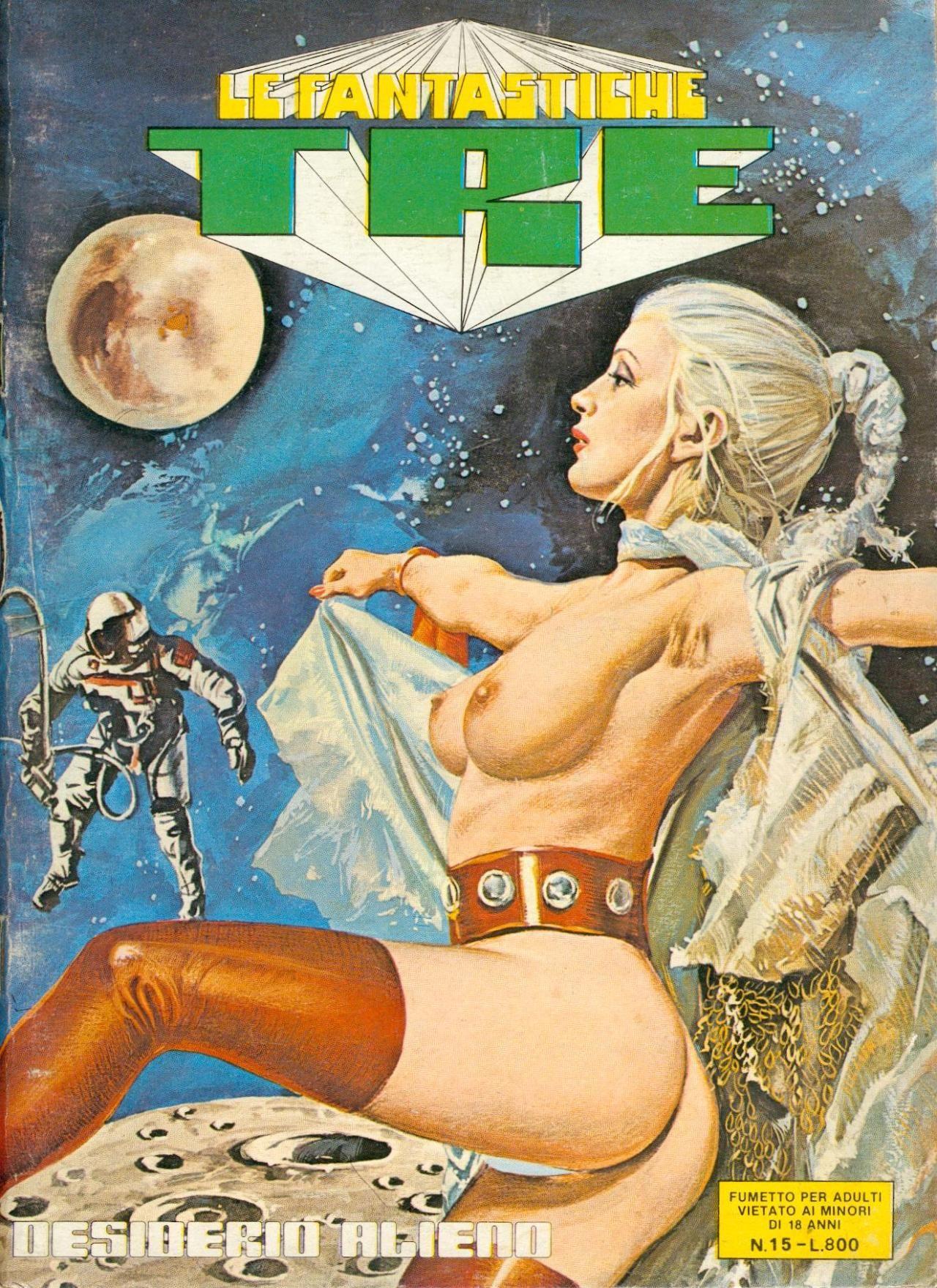 Retro-Porno-Comics Super großer ungeschnittener Schwanz