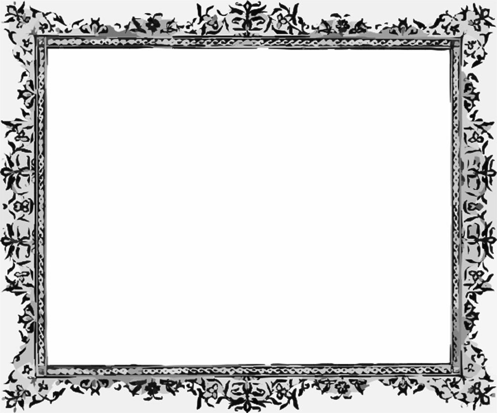 black and white frame powerpoint background. available in 1024x850