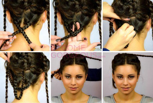 Katniss Hair Outer Beauty Wedding Updo Tutorial Wedding Updo
