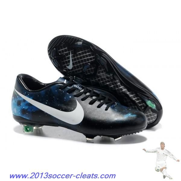 328bcd883 Authentic Nike Mercurial Vapor X CR FG Black White Blue Football Boots