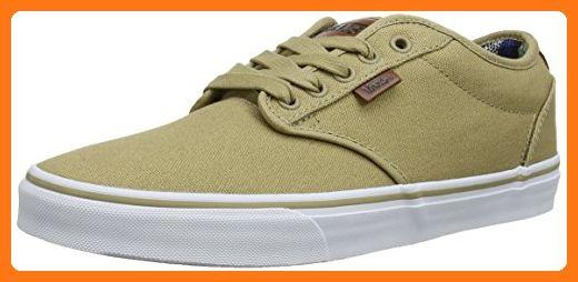 c600457339a2d Vans Men's Atwood Deluxe (10 oz Canvas) Khaki/Guatemala Skate Shoe ...