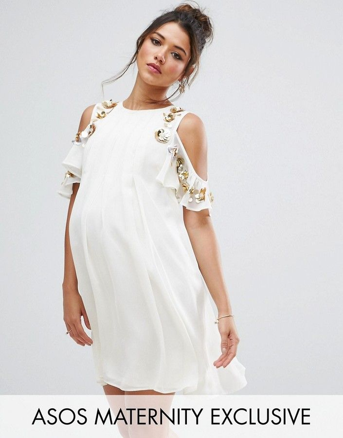 8 Little White Dresses For Pregnant Brides Asos Maternity Dresses Stylish Maternity Outfits Dresses For Pregnant Women