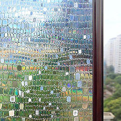 Rabbitgoo No Glue Static Cling Privacy Glass 3d Pebble Window