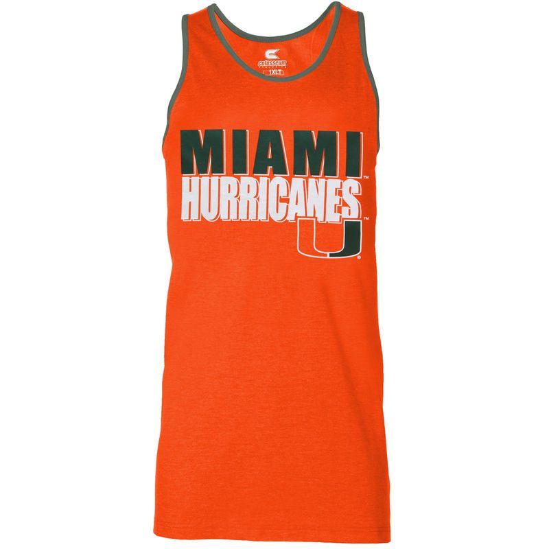 official photos f83f5 f894b Miami Hurricanes Big & Tall Freestyle Tank Top - Orange ...