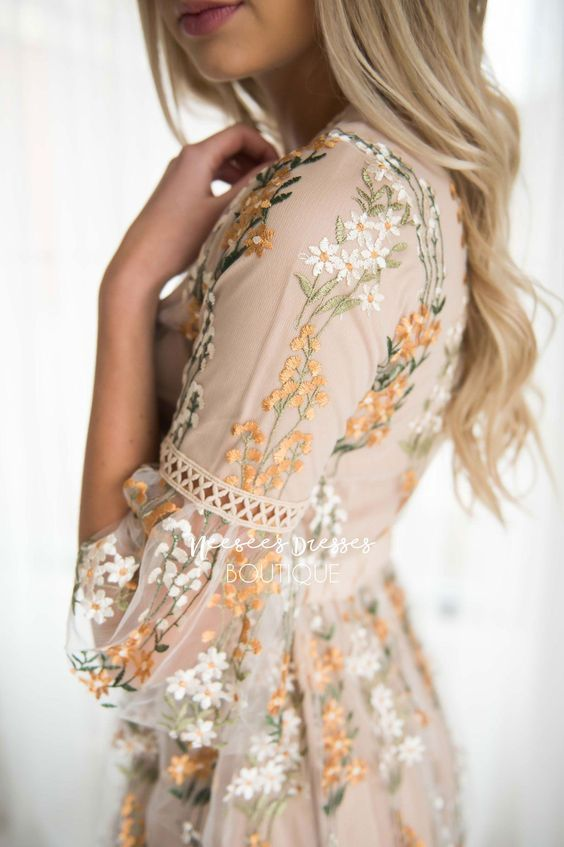 Boho Chic Flower Embroidery Dress