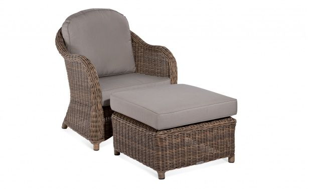 Coco Republic Salvador Lounge Chair and Footstool