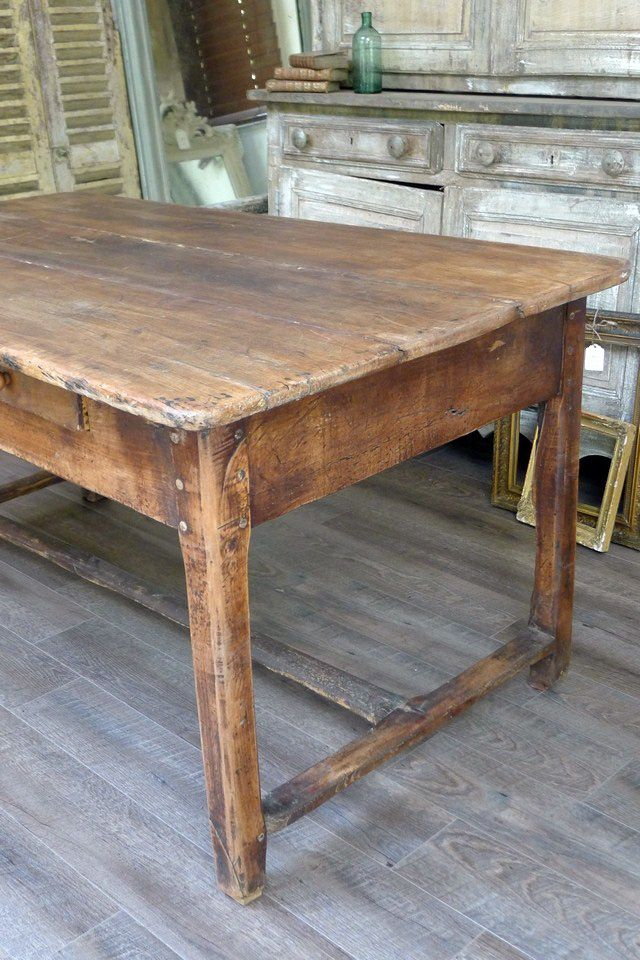 farmhouse table as my kitchen island table    just right    homestead finds   pinterest   farmhouse      rh   pinterest com
