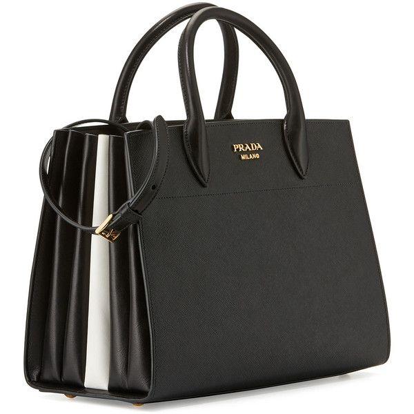 3b765c65e1aa ... norway prada bibliothque medium saffiano top handle tote bag 3080 liked  on polyvore e11e9 dfc35 ...