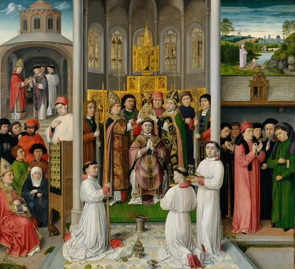 Scenes from the Life of Saint Augustine. Master of Saint Augustine  1490.