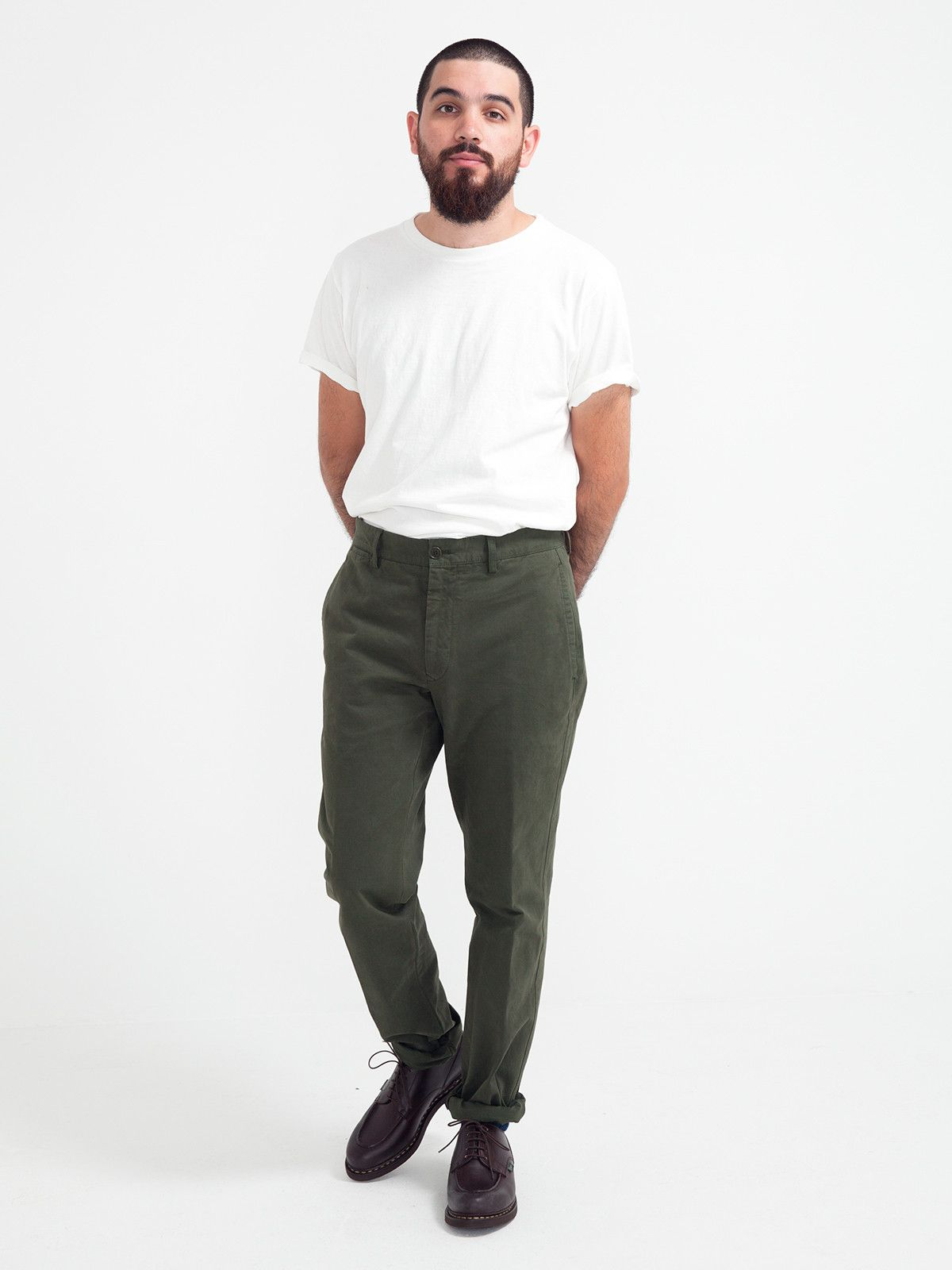 LONG TROUSER OLIVE   GENTRY NYC