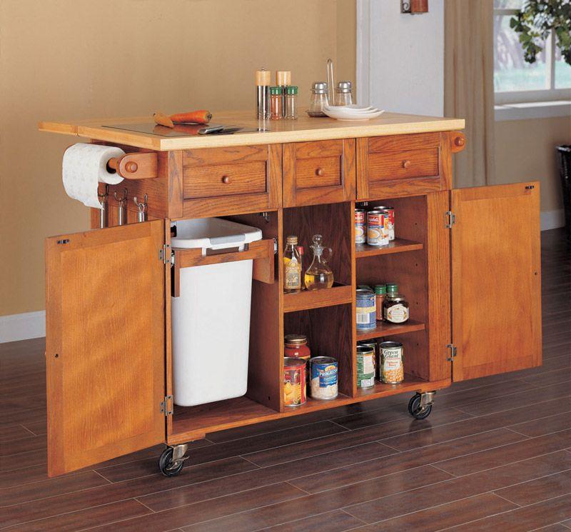 Medium Oak Kitchen Cart By Powell Company   DC
