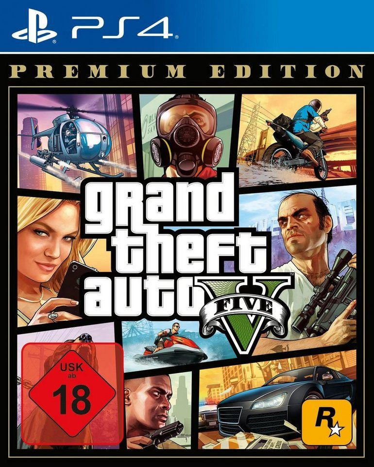 Gta V Grand Theft Auto V Premium Edition Playstation 4 Online Kaufen In 2020 Grand Theft Auto Ps4 Games Grand Theft Auto Series
