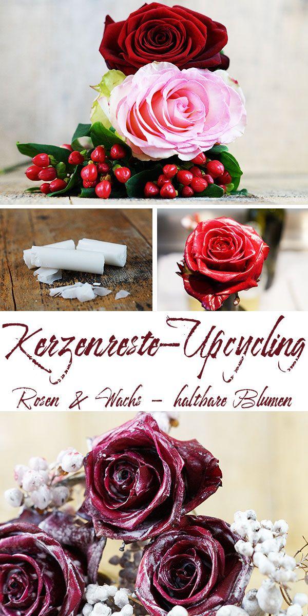 wie du aus kerzenresten rosen haltbar machen kannst diy and crafts basteln rosen und. Black Bedroom Furniture Sets. Home Design Ideas