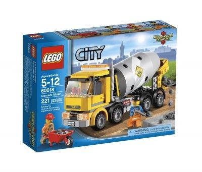 Brinquedo LEGO City Cement Mixer 60018 #Brinquedo #LEGO