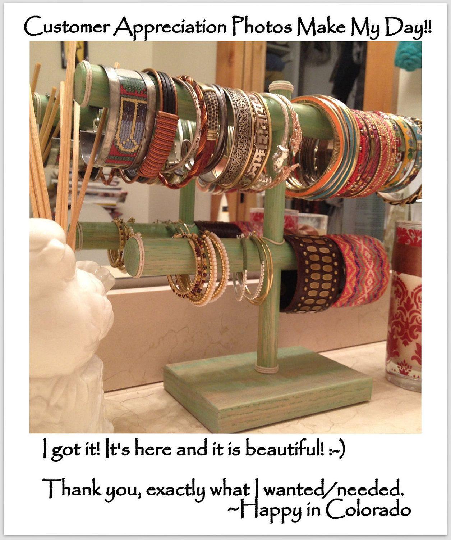 Customized Two Tier Bracelet Holder Jewelry Organizer Craft Show