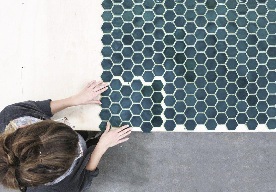 tiles hexagon mosaic tile