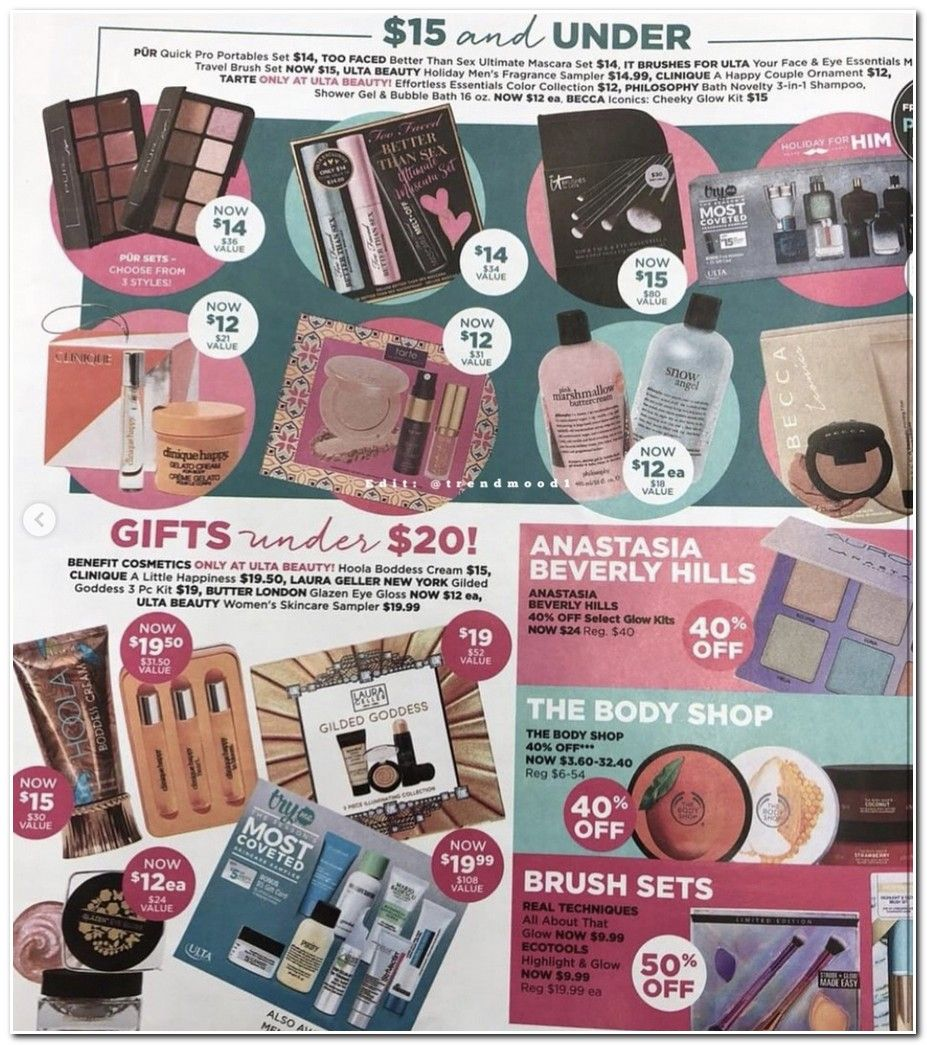 Find The Ulta Black Friday Ad For 2017 With All The Best Sales Discounts And Coupons On Makeup And Beauty Products At Blackfriday Fm Starting 6pm November 23