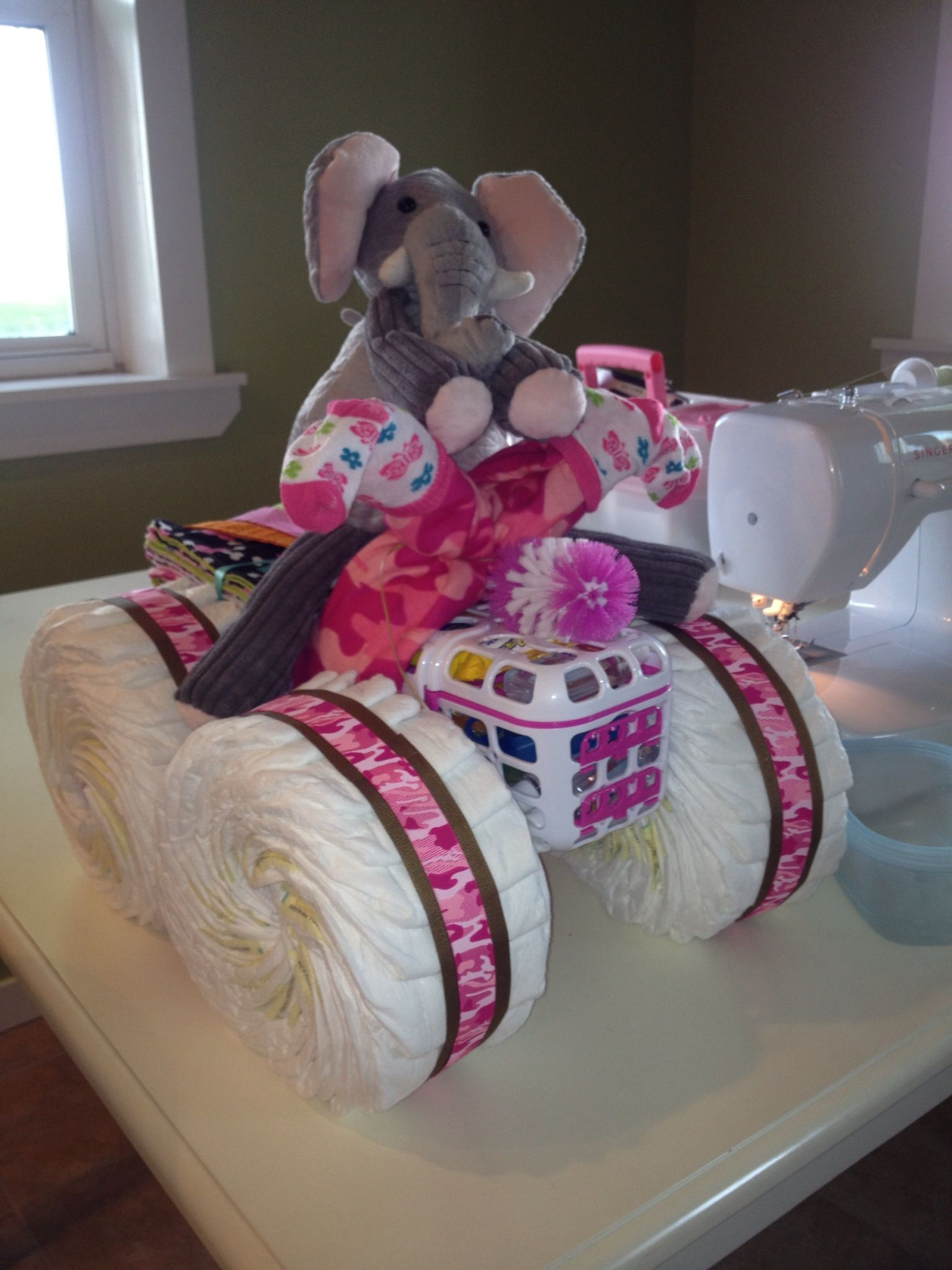 Diaper four-wheeler