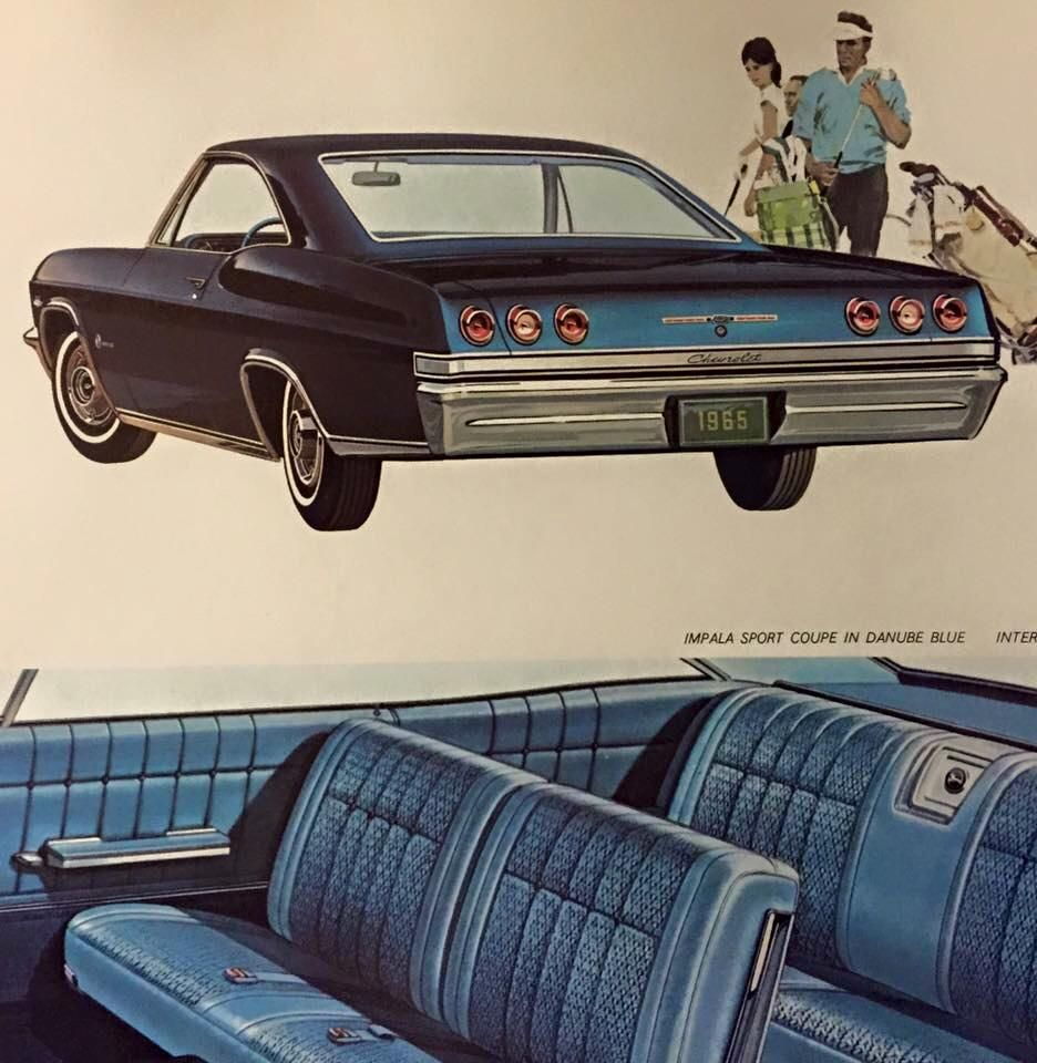 65 chevrolet impala w turbo fire 327 v8 my grandmother had one of these in beige thought it was one of the ugliest cars in existence at