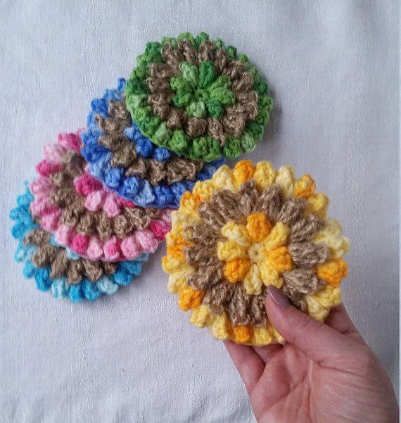 Bath Sponge Medium Soft Crochet Bath Pouf Shower Scrubby Body