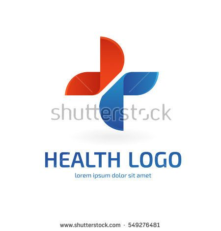 Logo Design Abstract Medical Vector Template Illustration Of Logotype Cross Health Symbol
