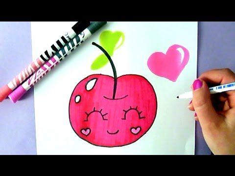 Dessin coloriage kawaii cerise - Comment dessiner une bougie ...