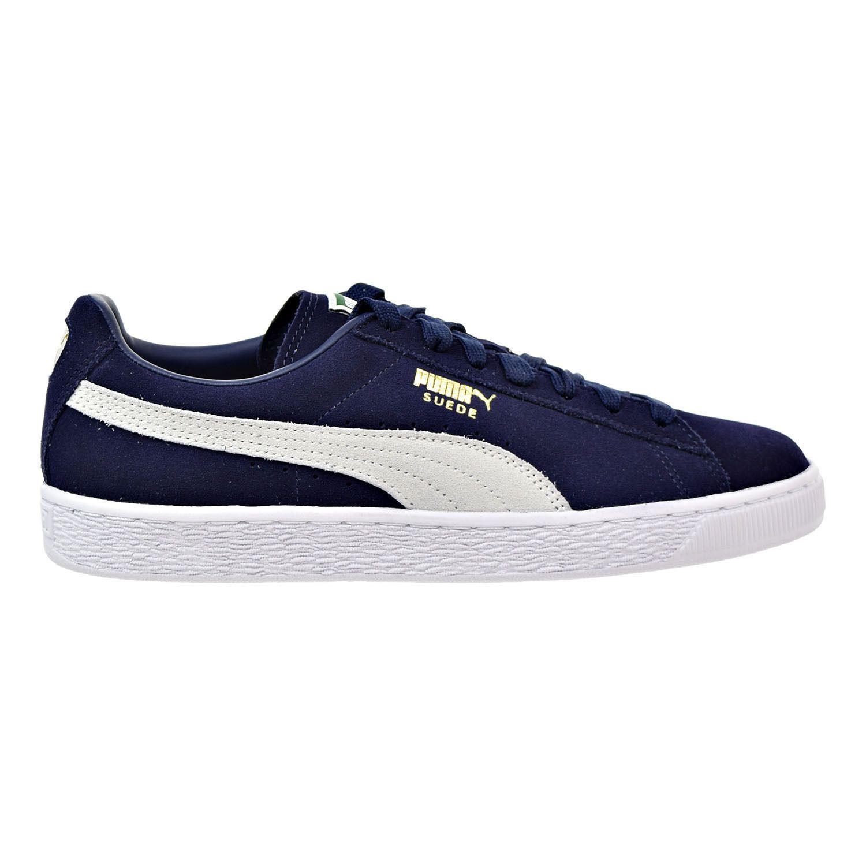 Puma Suede Classic Mens Sneakers Peacoat-White 356568-51