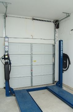 High Lift Garage Door Conversion Garage Door Track Garage Doors Garage Door Makeover