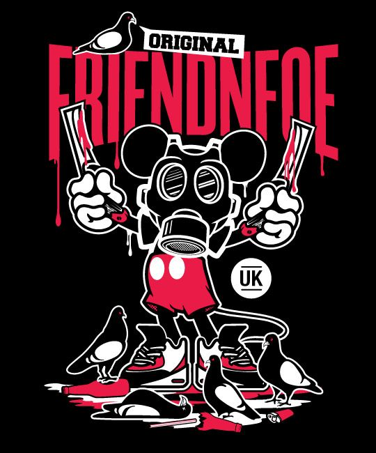 Friendnfoe Mickey And Friends Character Illustration Graphic Illustration Graphic Art Graffiti Characters