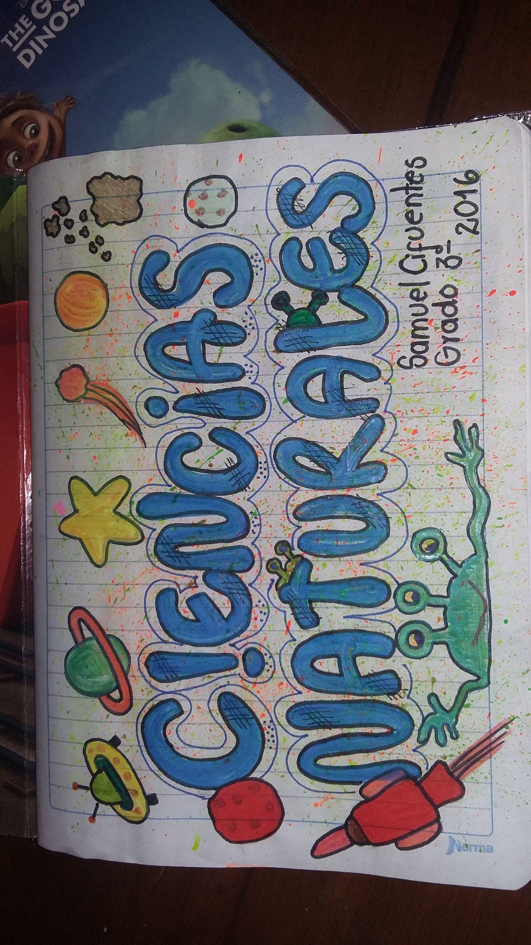 Ciencias Cuadernos Creativos Marcar Cuadernos Carátulas Para Cuadernos