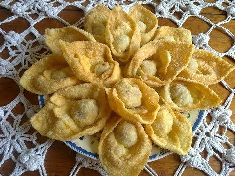 Wantan frito relleno de at n masa f cil r pida casera for Menu casero facil