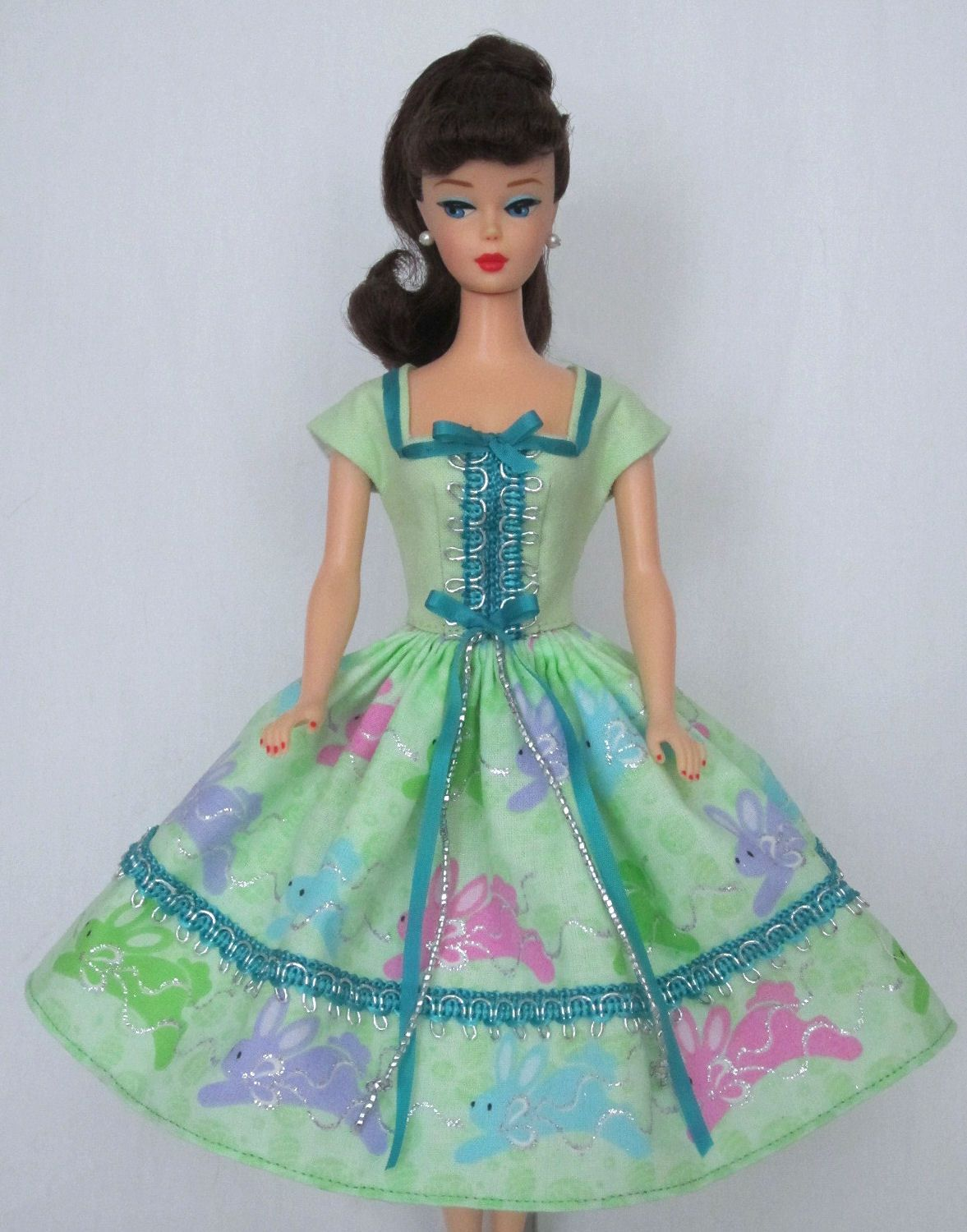 Hop To It - Vintage Barbie Doll Dress Reproduction Barbie Clothes on eBay http://www.ebay.com/usr/fanfare1901?_trksid=p2047675.l2559