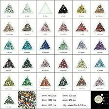1000 Choose Colour Crystal Flat Back Nail Art Face Festival Rhinestones Gems  4300 Watch Count