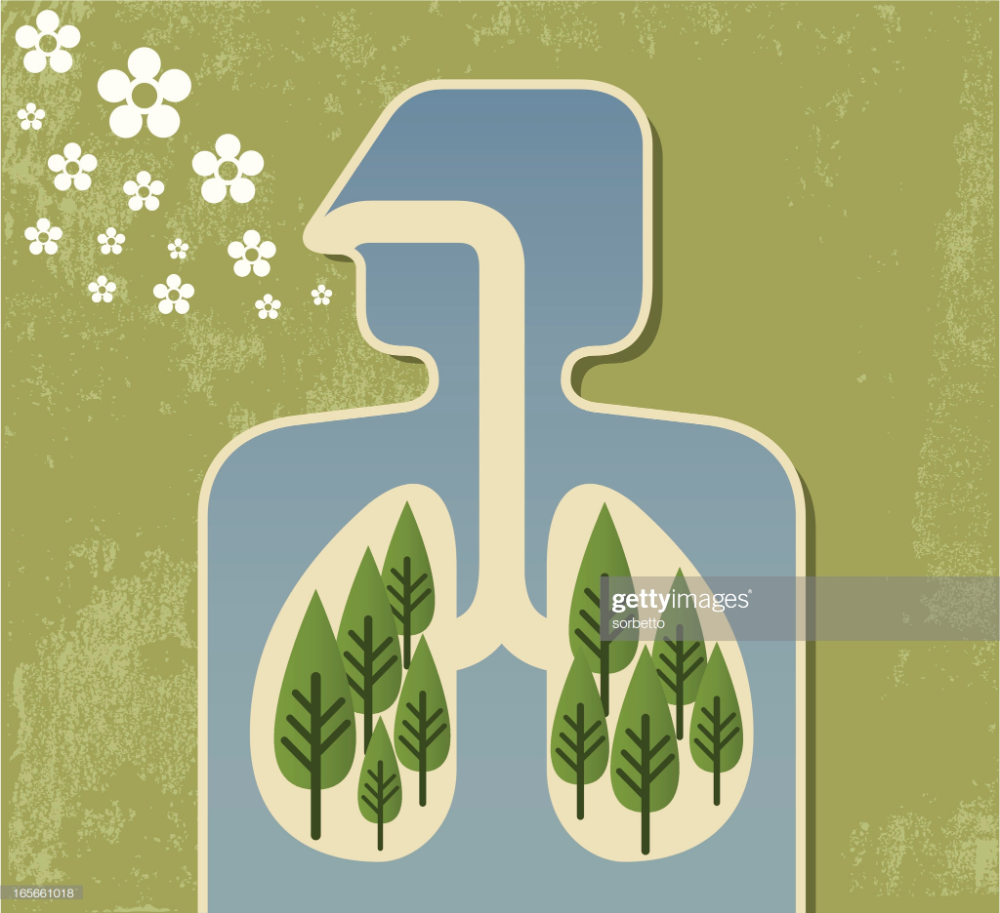 Stock Illustration Breathing Fresh Air Indoor Air Quality