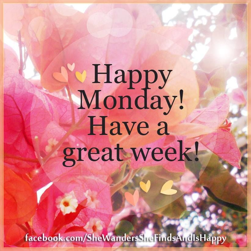 Happy Monday Wishing You A Wonderful Week Remember Every New Day Is Another Chance To Change Your Life Happy Monday Quotes Good Day Quotes Monday Quotes