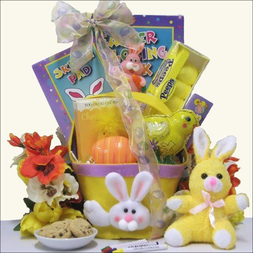 Bunnies birds chicks oh my toddler easter basket 18 30 a toddler easter gift months a great sibling gift when there is a new baby in the house negle Image collections