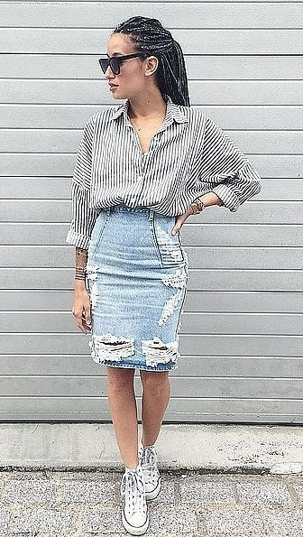 43 Genius Outfit Ideas To Steal From Pinterest Skirt And Sneakers Trendy Skirts Fashion