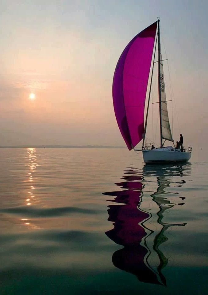 Still Waters Ocean Waves Painting Sailboat Photography Boat