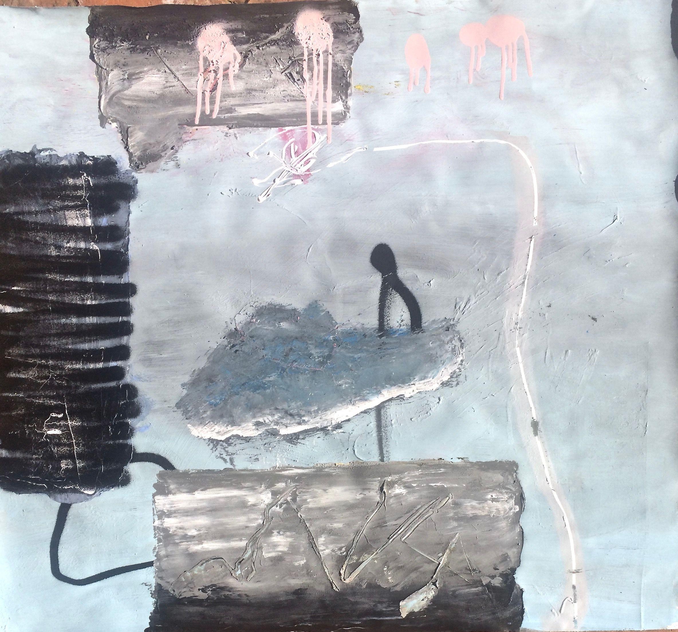 Jordi Galí - Déjà loin (01-2018) 1,03x0,92m. Acrylic Spray on paper